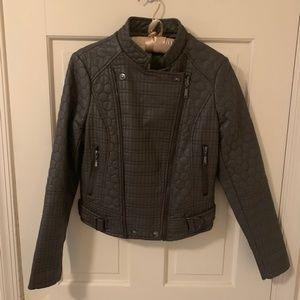 Textured Leather Like Moto Jacket NWOT Jou Jou